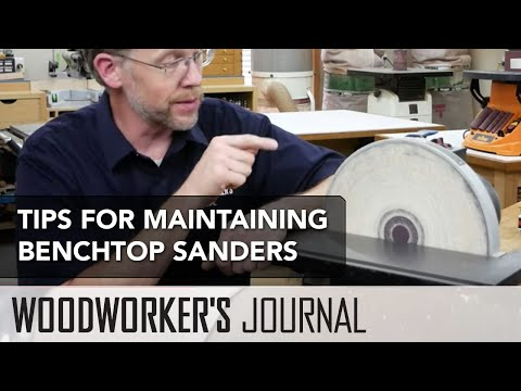 How to Maintain Your Benchtop Sanders | Woodworking Sanding Tip