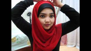 square scarf tutorial - reddish rounded ...
