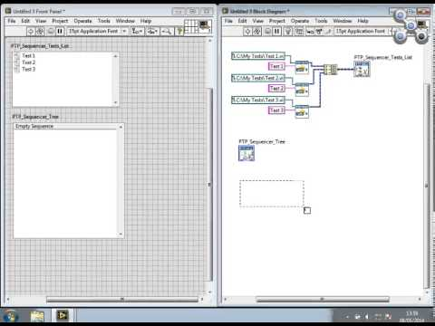 Demonstration of the PTP Sequencer XControls: creating feature rich user interfaces with ease