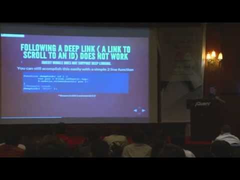 jQuery Conference Asia 2012 - Session 4. jQuery Mobile: Common Pitfalls and Gotchas