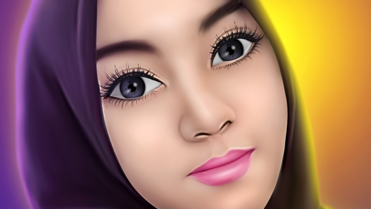 Need For Speed Girl Wallpaper Tutorial Smudge Painting Hijab Girl No Speed Art Youtube