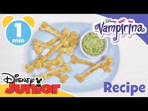 Vampirina   Halloween Pastry Bones and Pea Dip Recipe 🍽   Disney Junior UK
