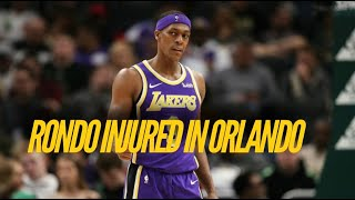 Rajon rondo suffered an injury, what will the lakers do now? update: injury has been confirmed to be a fractured thumb by mike trudell of lakers. 6-8...