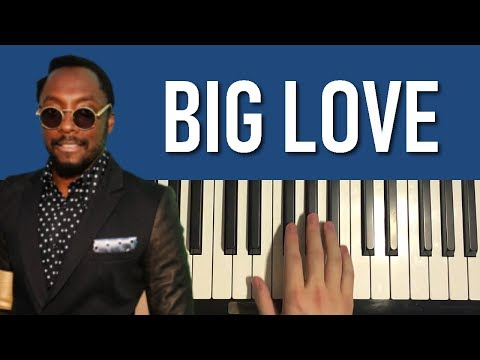 HOW TO PLAY - The Black Eyed Peas - BIG LOVE (Piano Tutorial Lesson)
