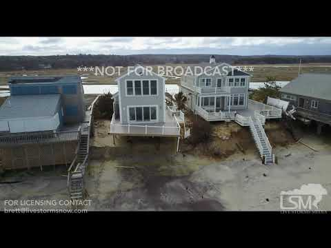 3-6-2018 Sandwich, Ma More than dozen homes deemed unsafe from storm damage drone