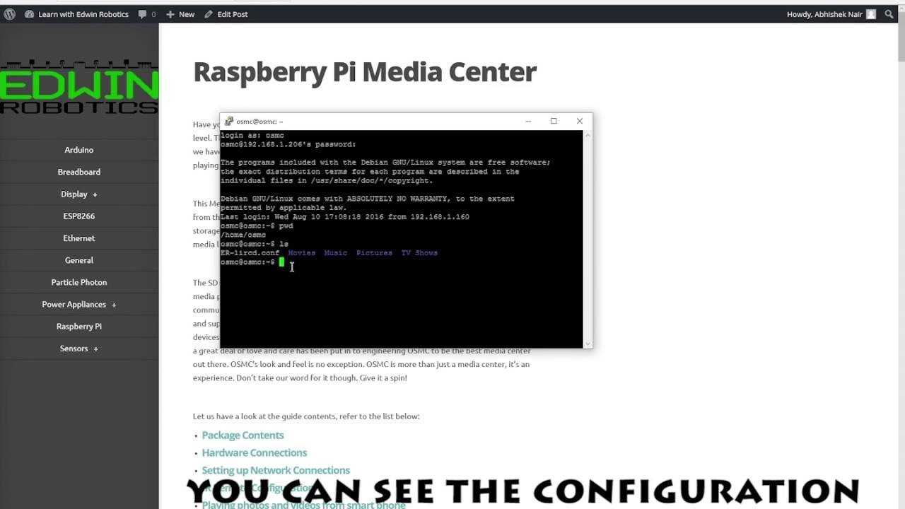 Raspberry Pi Media Center | Learn with Edwin Robotics