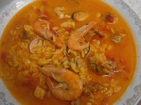 Arroz caldoso con marisco y pollo youtube - Arroz caldoso con marisco ...