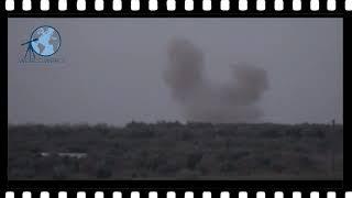 Siria, Hama 15/12/18 la artilleria siria golpea posiciones terroristas
