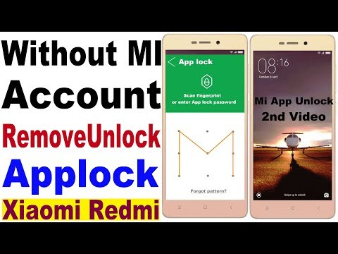 Unlock App Lock Redmi MI / Mi Redmi App Lock Forget Pattern/ MI Applock Unlock/ Redmi Note 4 Applock