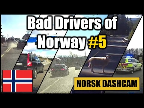 Bad Drivers of Norway #5 - Bad overtakes, animals and strange driving