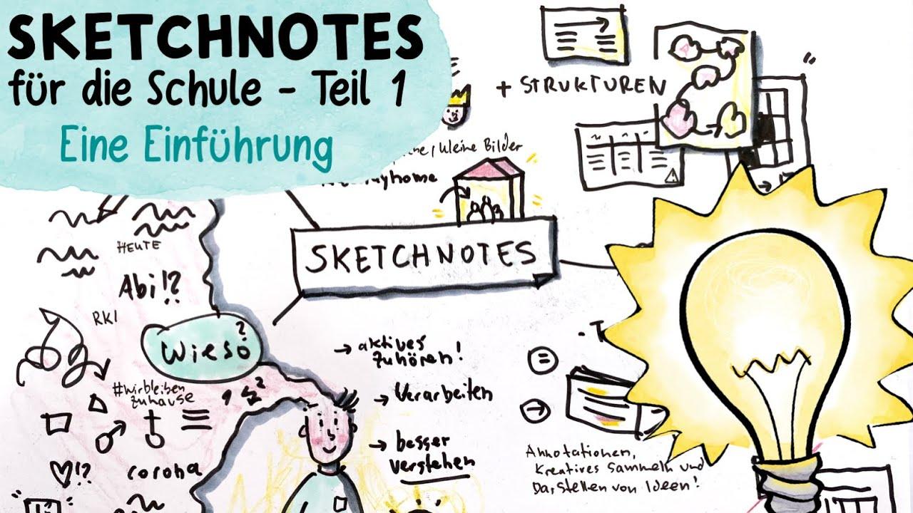 Einsteiger / Tutorial - Sketchnotes für die Schule - YouTube