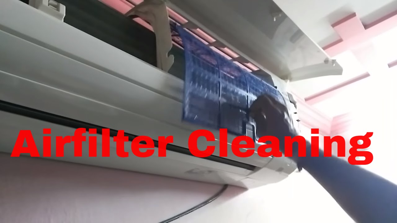 youtube how to clean air conditioner