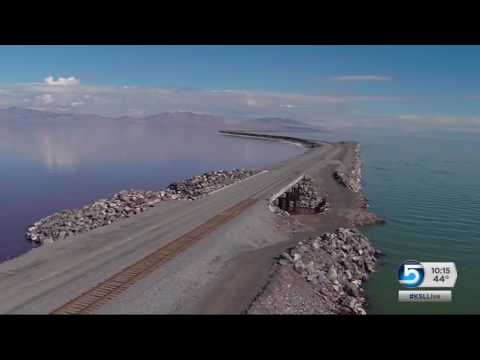 Great Salt Lake drying up as plans to punch hole through causeway are delayed