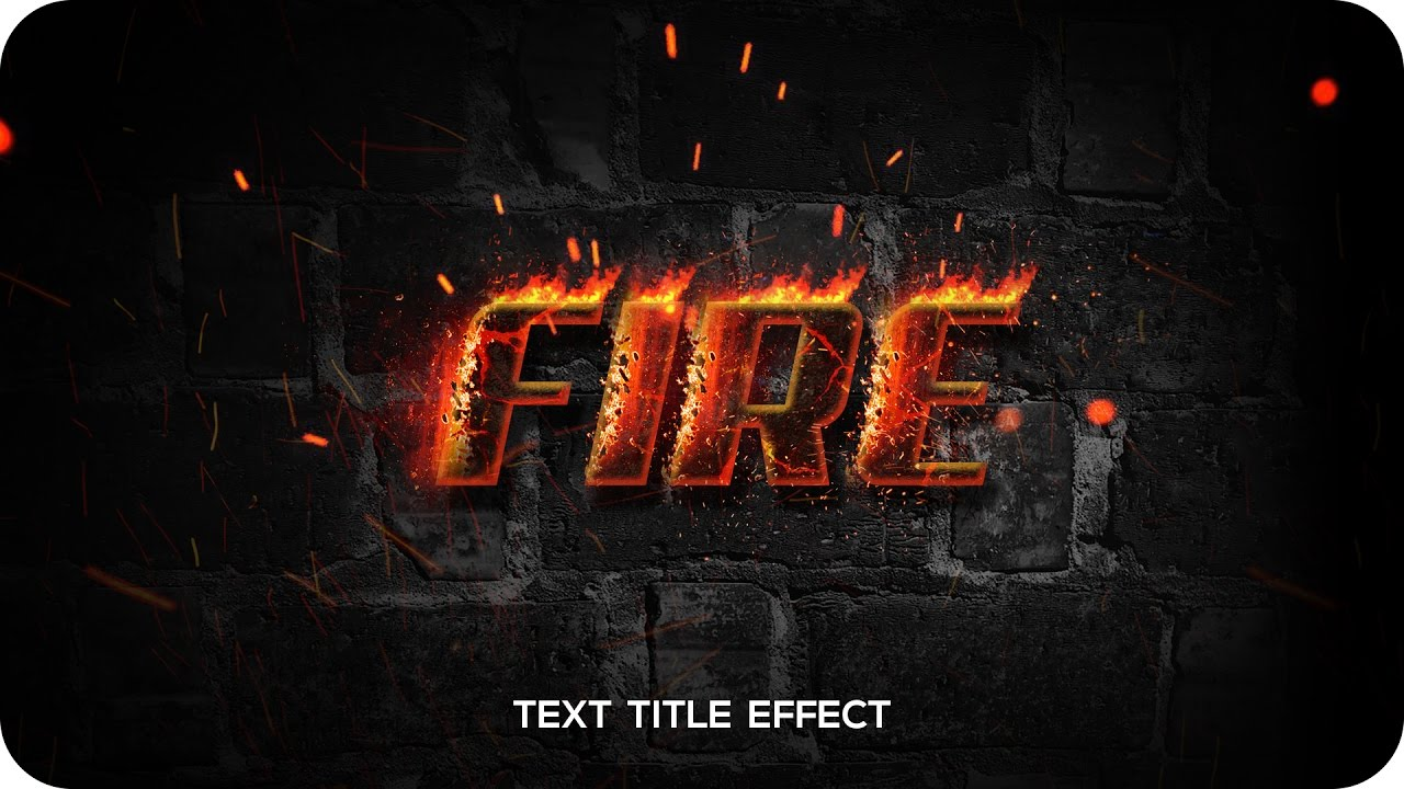 Bee™ Photoshop Tutorials : Fire Text Effect | Simple & Easy Fiery Text  Movie Title Design | Logo