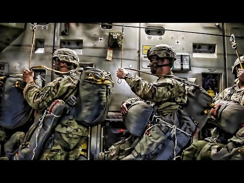 American & British Paratroopers Inflight-Rig-Jump Latvia