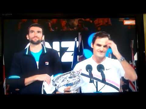 Roger Federer Campeón Australian Open 2018 vs Cilic