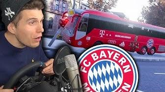 BUSFAHRER BEIM FC BAYERN MÜNCHEN ✪ FERNBUS SIMULATOR mit Lenkrad