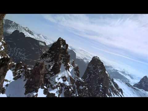Красивые прыжки с красивых гор Slowmotion   HD]