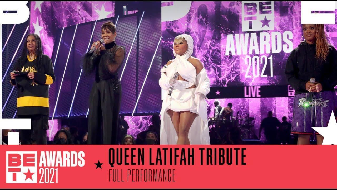 Download Lil' Kim, Monie Love, Rapsody, & MC Lyte Perform A Medley Of Queen Latifah Hits   BET Awards 2021