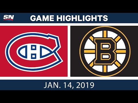 NHL Highlights | Canadiens vs. Bruins - Jan. 14, 2019