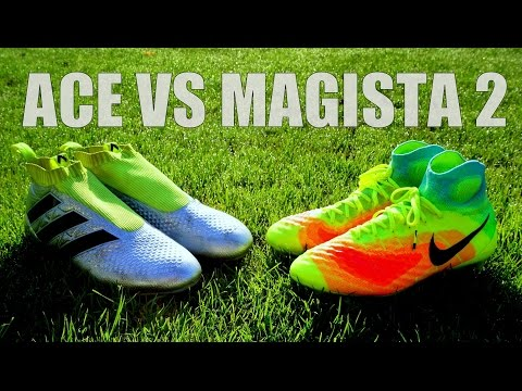 Nike MAGISTA 2 vs Adidas ACE 16+ PURECONTROL - TEST