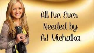 AJ Michalka- All I