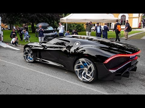 WORLD'S MOST EXPENSIVE CAR $19 MILLION Bugatti La Voiture Noir DRIVES