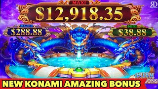 ⭐️NEW KONAMI SLOT EPIC BONUS⭐️ $5.00 $10.00 BET LIGHTNING LINK BONUS SLOT MACHINE