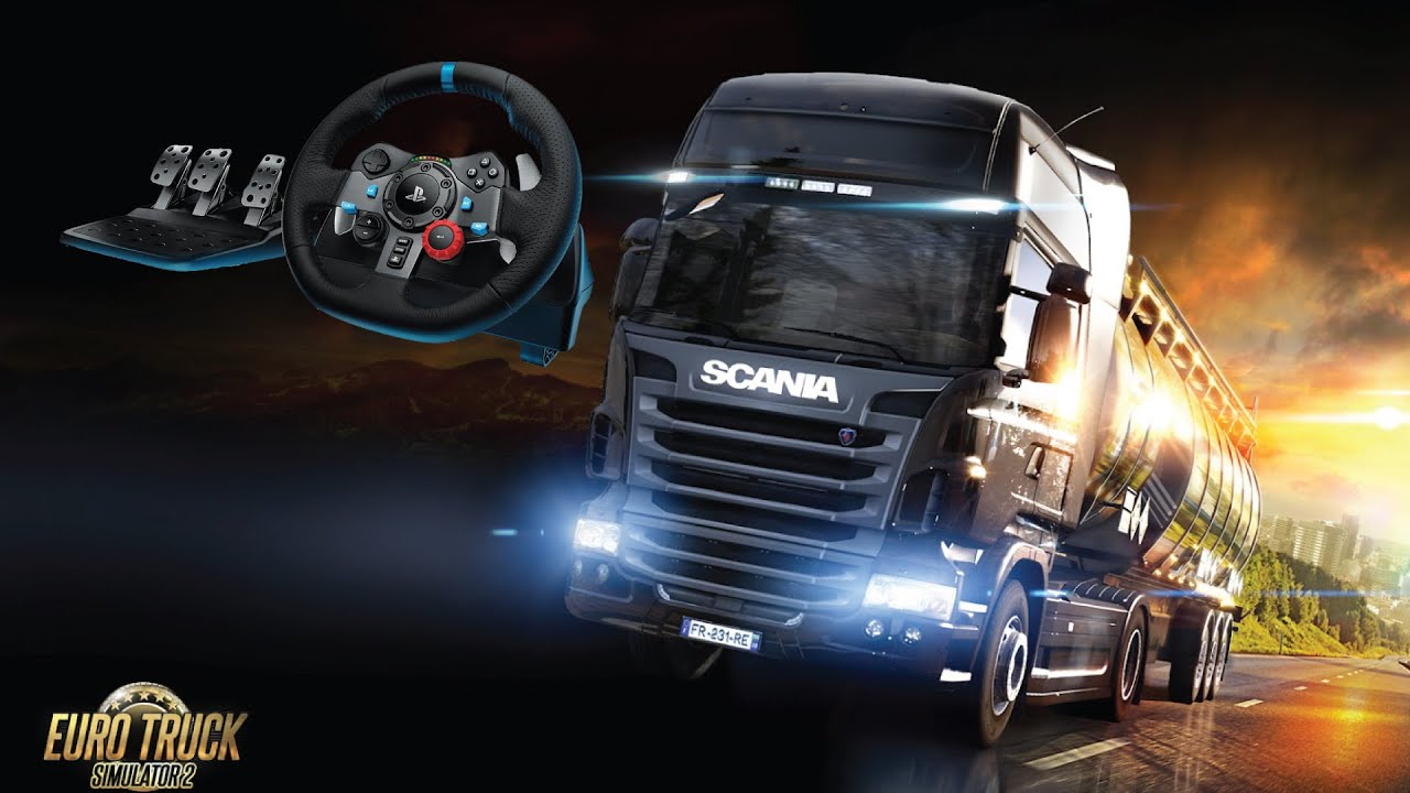 232b7ea6689 Euro Truck Simulator 2 with Logitech G29 Steering Wheel and Pedals ...