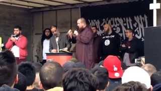 Pierre Vogel lädt Polizei zum Islam ein (23.03.2014 - Mannheim, Kundgebung)