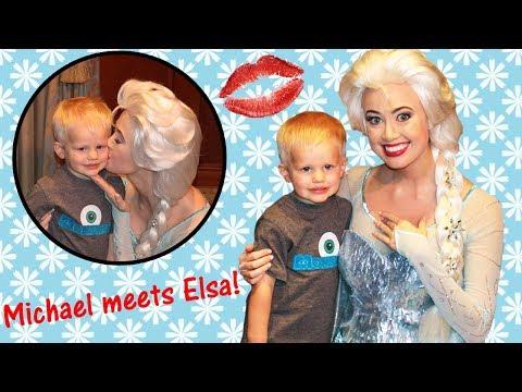 Toddler's First Kiss || Michael Meets Elsa!!