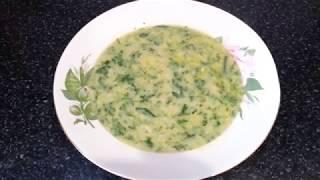 Молочный суп с крапивой  Եղինջով կաթնապուր
