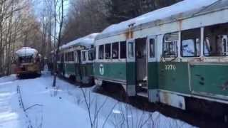 Wow! Abandoned Streetcar Trolley graveyard buried In Central Pennsylvania.
