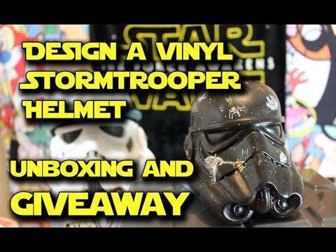 Star Wars Design A Vinyl Stormtrooper Helmet Unboxing Giveaway
