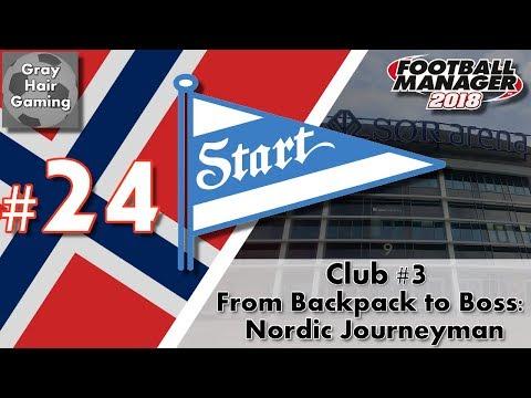 FM18 Journeyman - C3 EP24 - Qarabağ FK Home/Away Champions League - IK Start - From Backpack to Boss