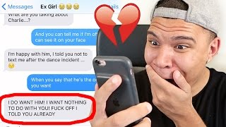 """SONG LYRIC TEXT PRANK ON EX-GIRLFRIEND WITH """"Treat You Better"""" by Shawn Mendes!! (CAUGHT CHEATING)"""