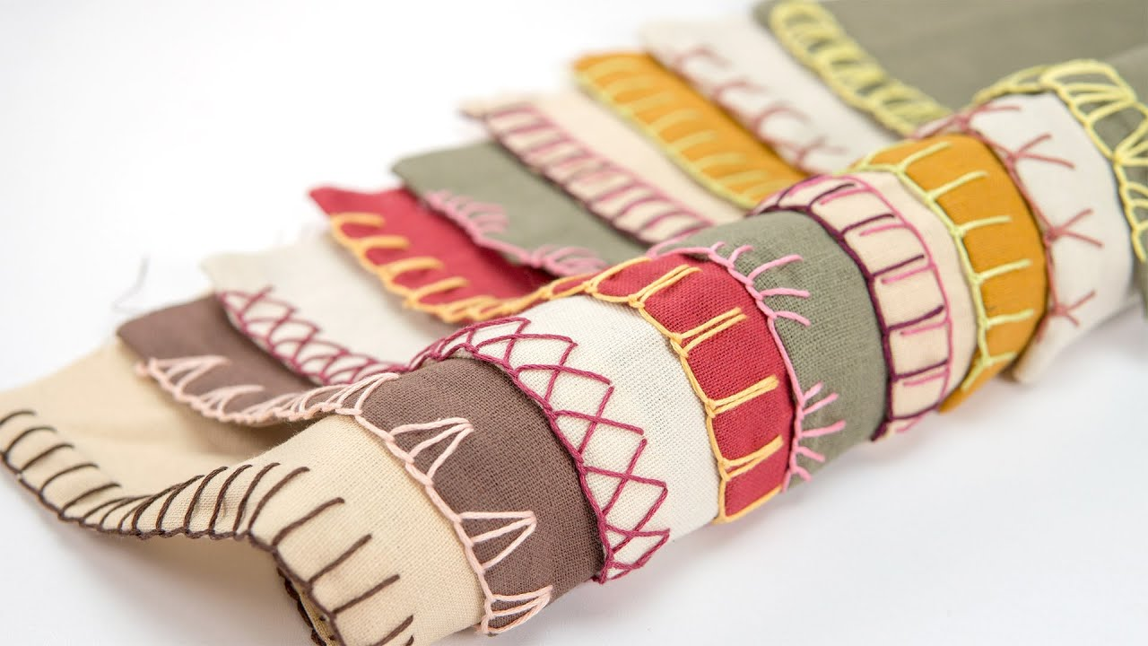 [STAY HOME] Learn Hand Sewing Blanket Stitch #WithMe: 10 Decorative Edge Stitches