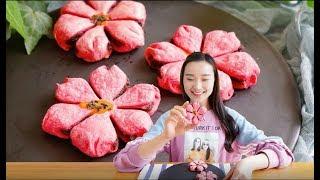 【中国美食】高颜值桃花酥,吃掉所有的甜蜜,这可是上仙的甜点哦~