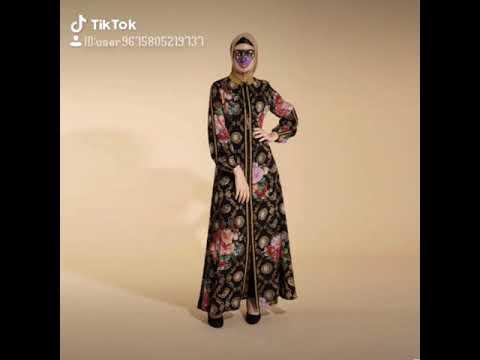 Model Baru Baju Muslim Abaya Hikmat Fashion A8877 Black Youtube
