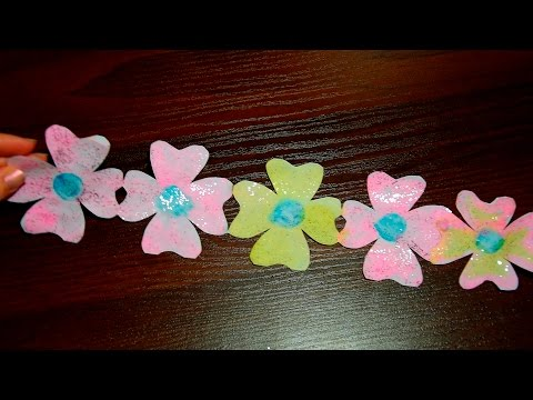 How to make a Beautiful Flowers garlands ✿ of paper with their hands