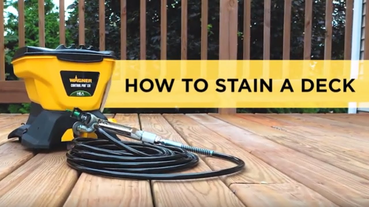 How To Stain A Deck With A Paint Sprayer Youtube