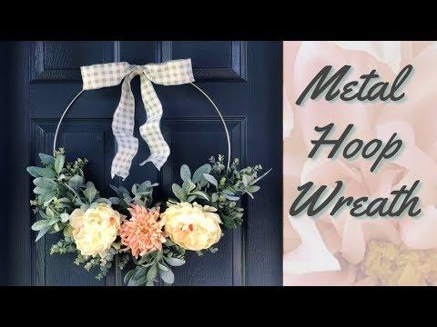 Metal Hoop Wreath DIY