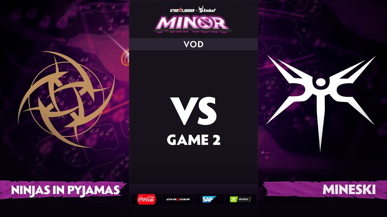 [EN] Ninjas in Pyjamas vs Mineski, Game 2, StarLadder ImbaTV Dota 2 Minor S2 Group Stage