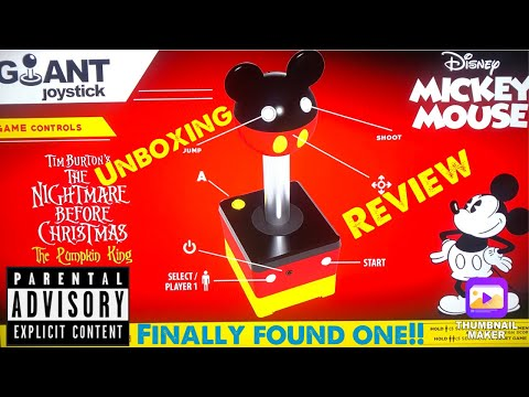 Arcade 1up Disneys Mickey Mouse giant joystick review from Halloween Hunters