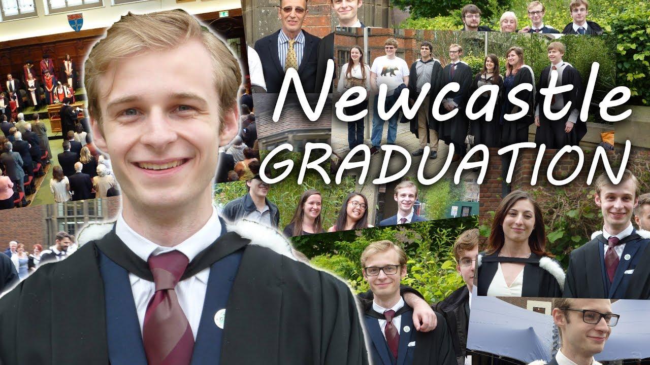 ae3cd14c411 Graduation from Newcastle University - YouTube