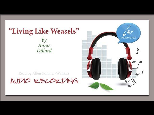 Annie Dillard  Living Like Weasles  Genius