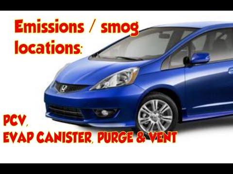 Honda Fit / JAZZ Emissions: EGR, PCV, EVAP, Locations