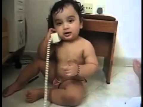 Baby Boy And Girl On Call In Hindi So Comedy Youtube