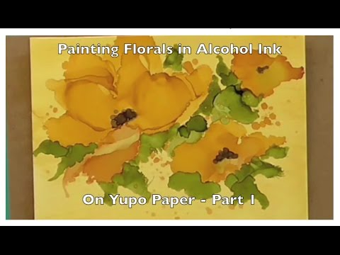 Painting in alcohol ink on yupo youtube for Painting while drinking wine