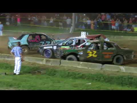 2018 Geauga County Fair Demolition Derby - Heat 4